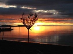 Sunset at Northbeach on Orcas Island