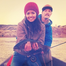 Fly fishing with K